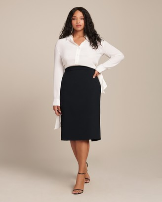 Christian Siriano Crepe Pencil Skirt