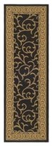 """Safavieh Courtyard Collection CY6014-46 Black and Natural Indoor/ Outdoor Runner, 2 feet 3 inches by 10 feet (2'3"""" x 10')"""