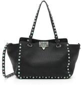 Valentino 'Small Rockstud - Alce' Leather Tote - Black