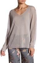 Luma Sheer Sparkle V-Neck Pullover
