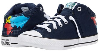 Converse Chuck Taylor All Star Axel - Mid (Little Kid/Big Kid) (Obsidian/Sail Blue/White) Kid's Shoes