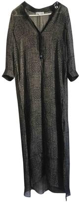 MARIE FRANCE VAN DAMME Khaki Silk Dress for Women