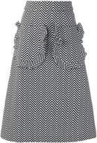 House of Holland chevron a-line skirt