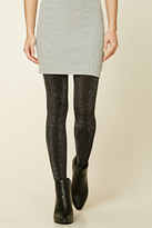 Forever 21 FOREVER 21+ Metallic Knit Tights
