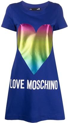 Love Moschino Heart Pint -Shirt Dress