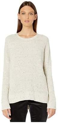 Eileen Fisher Organic Cotton Speckle Crew Neck Box-Top (Ecru) Women's Sweater