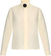Balenciaga Button-front silk-cady blouse