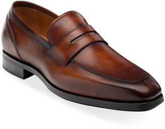Magnanni Men's Rodgers Leather Penny Loafers