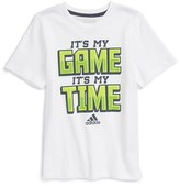 adidas Boy's Game Time Graphic T-Shirt