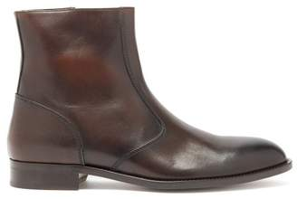 Paul Smith Pembury Patinated Leather Chelsea Boots - Mens - Brown
