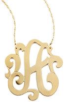 Jennifer Zeuner Jewelry Swirly Initial Necklace, A