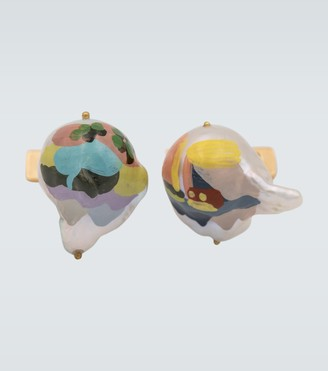 Bottega Veneta Printed pearl cufflinks