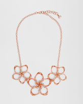 Ted Baker Swarovski crystal floral necklace