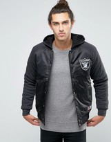 Majestic Raiders Satin Jacket With Hood