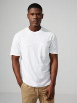 Frank + Oak Slub Cotton Pocket T-Shirt in Bright White