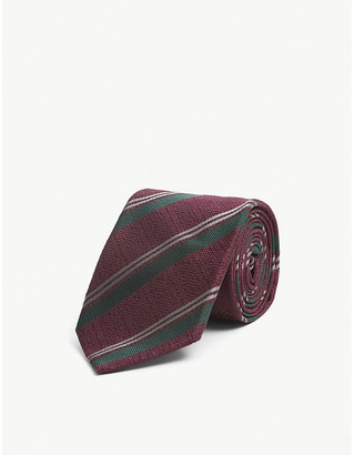Bigi Cravatte Striped silk tie