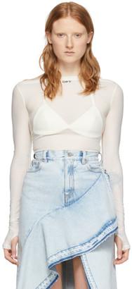 Off-White White Basic Sheer T-Shirt