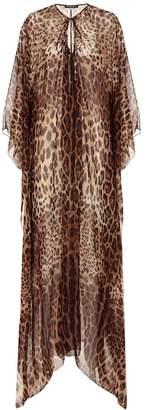 Dolce & Gabbana Leopard-print silk kaftan