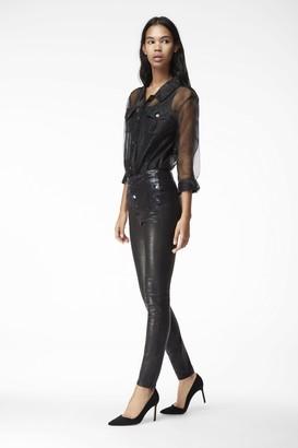 J Brand Natasha Sky High Skinny In Leather