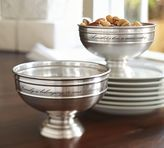 Pottery Barn Antique Silver Sentiment Snack Bowl