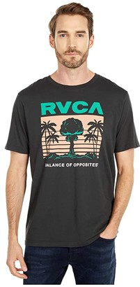 RVCA Nuclear Paradise Short Sleeve (Pirate Black) Men's Clothing