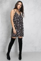 Rare Black Multi Floral Printed Cami Dress