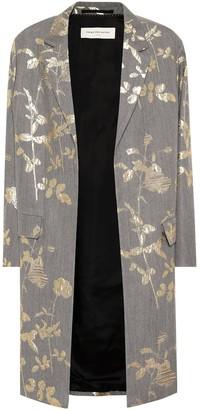 Dries Van Noten Floral wool-blend brocade coat
