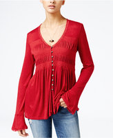 American Rag Bell-Sleeve Peasant Top, Only at Macy's