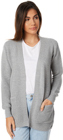 Swell Rib Longline Pocket Cardigan Grey