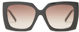 Le Specs Discomania Oversized Square Acetate Sunglasses - Black