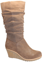 Eric Michael Taupe Leather Nadia Boot