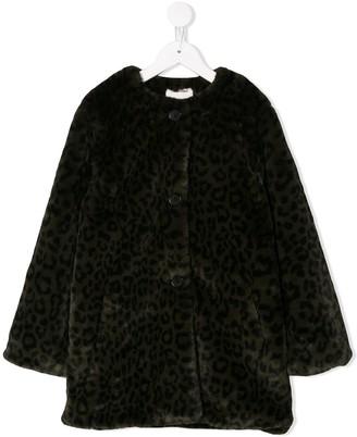 Zadig & Voltaire Kids leopard print coat