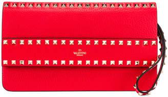 Valentino Rockstud Clutch in Red | FWRD