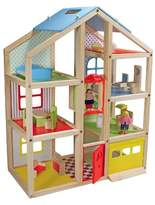 Melissa & Doug Hi-Rise Wooden Dollhouse With 15pc Furniture - Garage and Working Elevator