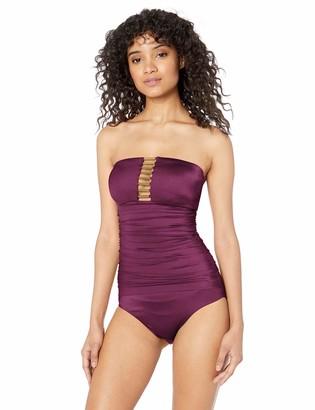 T Tahari Tahari Women's Bandeau W/Hardware One Piece Swimsuit
