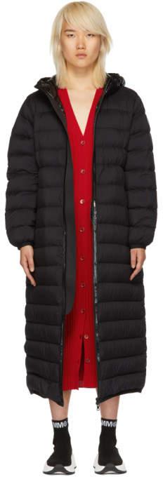 Moncler Black Down Grue Coat