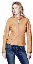 GUESS Women's Posha Faux-Leather Jacket