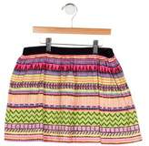 Milly Minis Girls' Printed A-Line Skirt