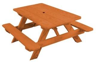 Harriet Bee Bianco Pine Kids Picnic Table Color: Mushroom
