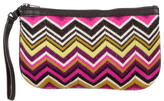 Missoni Leather-Trimmed Knit Clutch