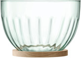 LSA International Mia Serving Bowl & Oak Base