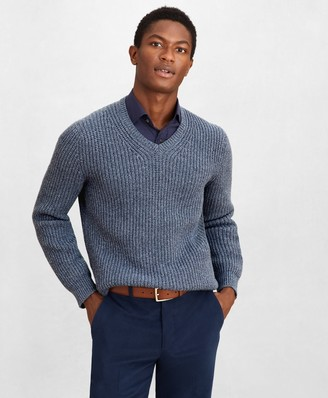 Brooks Brothers Golden Fleece Wool-Cashmere V-Neck Sweater