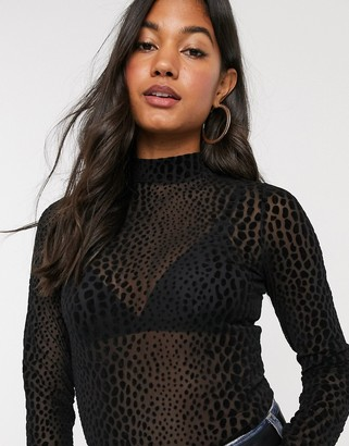 B.young snake embossed high neck top