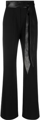 Nanushka Cecilia fabric block trousers