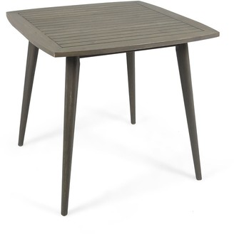 "Overstock 35.50"" Gray Contemporary Square Outdoor Dining Table"