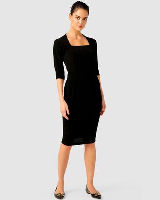 SACHA DRAKE - Women's Black Work Dresses - Iris Dress - Size One Size, 16 at The Iconic