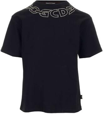 GCDS Embellished Chain Logo T-Shirt