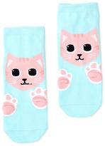Dotti Cat Paw Print Ankle Sock