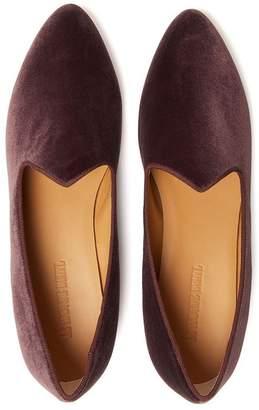Le Monde Beryl Dusty Purple Velvet Venetian Slipper