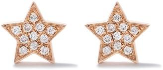 As 29 18kt rose gold Miami Star diamond stud earrings